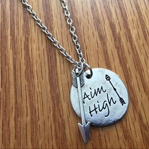 Jewelry - 🆕🎁 Aim High Quote Charm Necklace